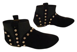 Twelfth St. by Cynthia Vincent Stylish Studded Design Black Boots