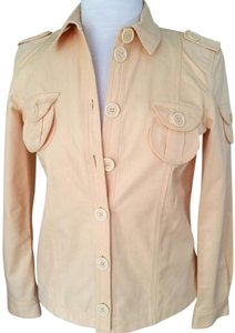 Marc Jacobs Jean Cotton Casual Butter-Cream Yellow Womens Jean Jacket