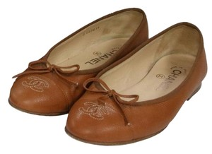 Chanel Espadrille Quilted Cambon Reva Brown Flats