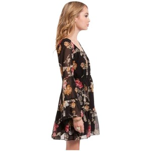 MINKPINK short dress Black multi Floral on Tradesy