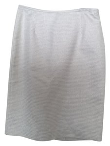 Calvin Klein Pencil Size 2 Tweed Skirt White tweed