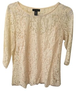 Willi Smith Lace Top Off-White