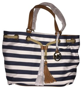 MICHAEL Michael Kors Tote Satchel in BLUE/WHITE