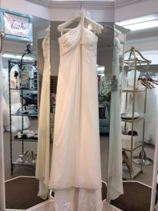 St. Patrick Off White Silk Blend Echo Destination Wedding Dress Size 14 (L)