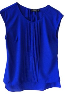 The Limited Pleated Top Blue