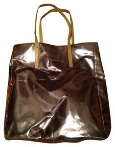 Lord & Taylor Tote in Shiny Gold