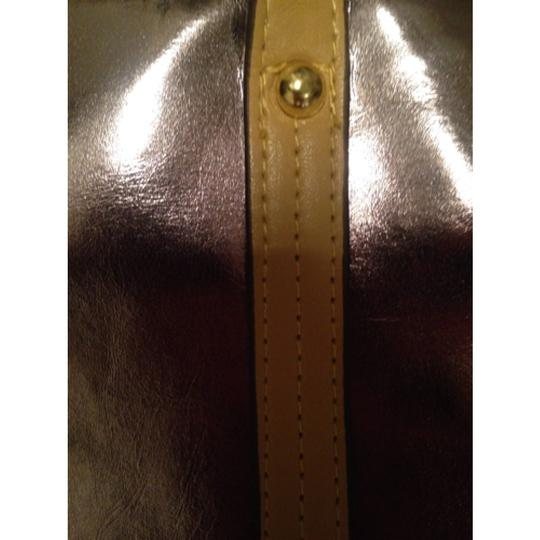 Lord & Taylor Tote in Shiny Gold Image 2