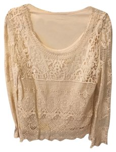 Willi Smith Lace Top White