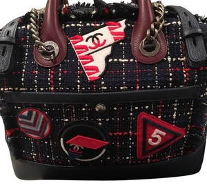 Chanel Satchel in Navy,red And White