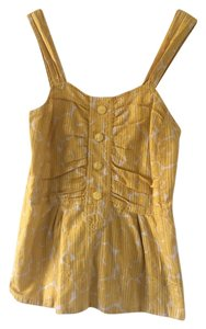Marc by Marc Jacobs Floral Cotton Summer Top Yellow and white