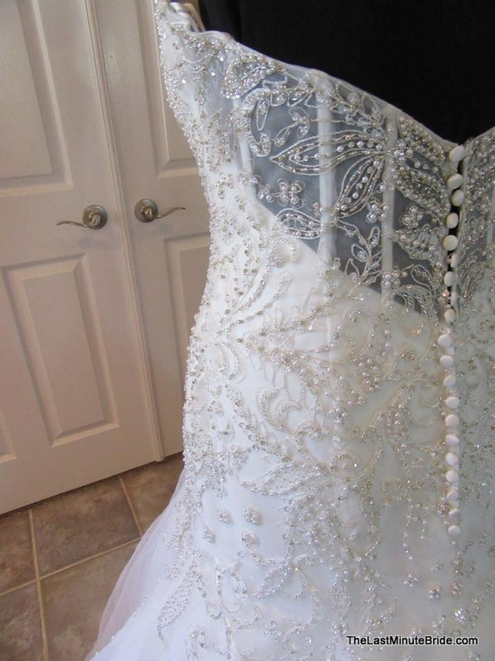 7217934c3b3 Kenneth Winston Ivory Silver Lace Tulle   Organza 1656 Sexy Wedding Dress  Size 14 (. 123456