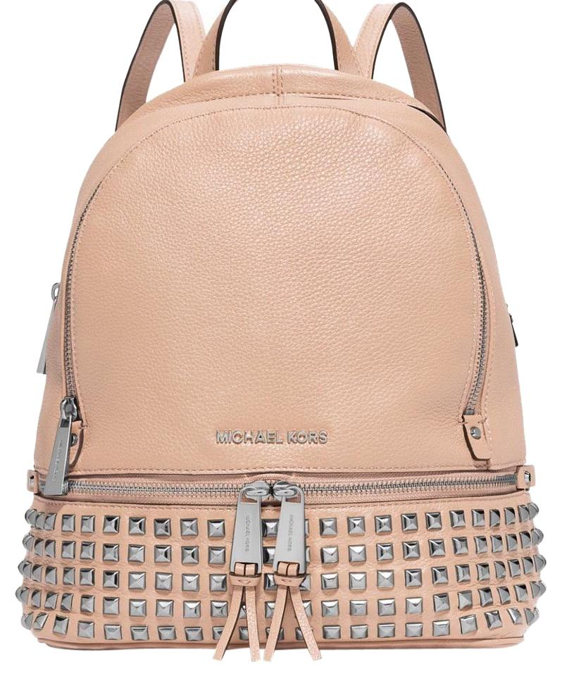 6ebb3e62678872 Michael Kors Backpack Metallic Nudes Chanel Gucci Ballet Travel Bag Image 0  ...