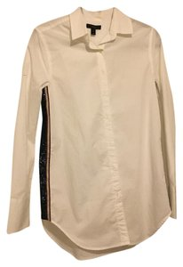 J.Crew Sequin Button Down Button Down Shirt white