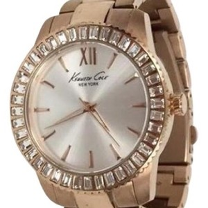 Kenneth Cole KENNETH COLE Rose Gold Crystal Bezel Large Face Watch!
