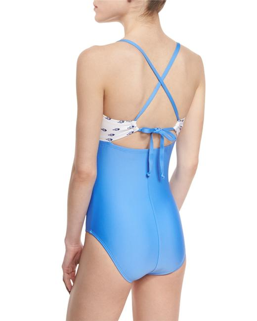 Splendid SplendidSummer School Cutout-Front One-Piece Swimsuit Image 1