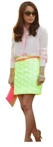J.Crew Summer Mini Skirt Yellow, White, Neon