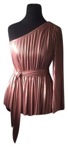 Halston Top Blush metallic