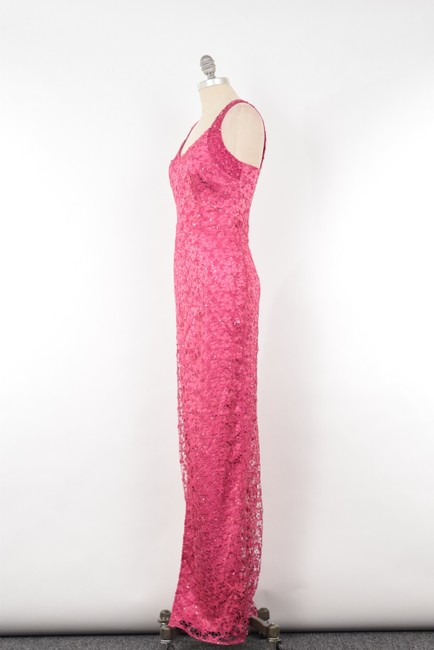 Kay Unger Sequin Lace Full Length Slinky Dress Image 1