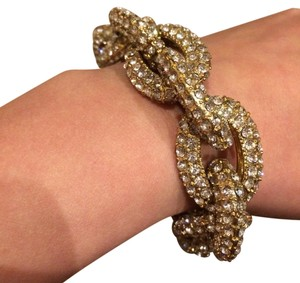 Other Wide Chain Pave Crystal Bracelet