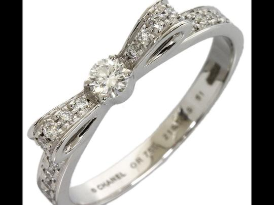 Chanel Chanel Diamond white Gold Bow Ring Image 1