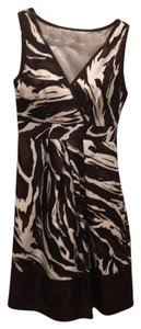 Banana Republic Animal Print Silk Dress