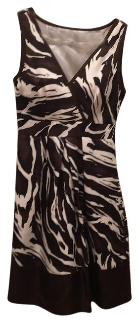 Banana Republic Animal Print Silk Dress Image 0