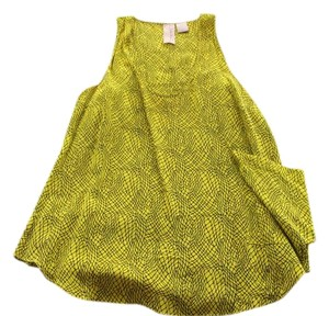 Nordstrom Geometric Pocket Tank Printed Gemma Top Chartreuse