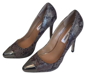 Steve Madden Heels Animal Print Taupe Gray, Brown Pumps