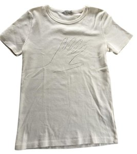 AG Adriano Goldschmied Alexa Chung Wool Sweater T Shirt Cream