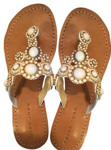 Trina Turk Jewels White Sandals