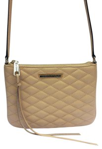 Rebecca Minkoff Quilted Leather Nude Cross Body Bag