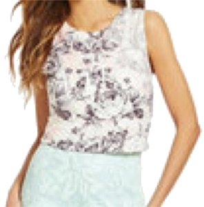 Gianni Bini Top Pink, Gray, White