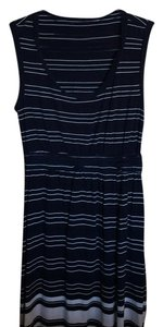 Max Edition XL short dress Blue and white on Tradesy