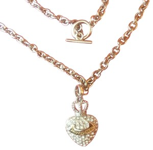 Juicy Couture Juicy Couture Pave Rhinestone Heart Pendant Necklace