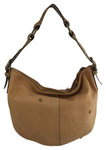 Coach Cc Over The Leather Hobo Bag