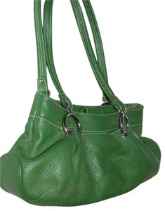 Maxx New York Mint Condition Pop Of Color Satchel in kelly green leather