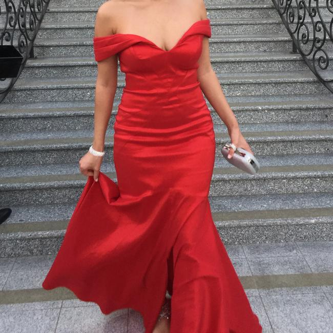 Scarlett Red Gown Dress Image 2