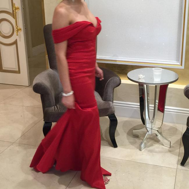 Scarlett Red Gown Dress Image 5