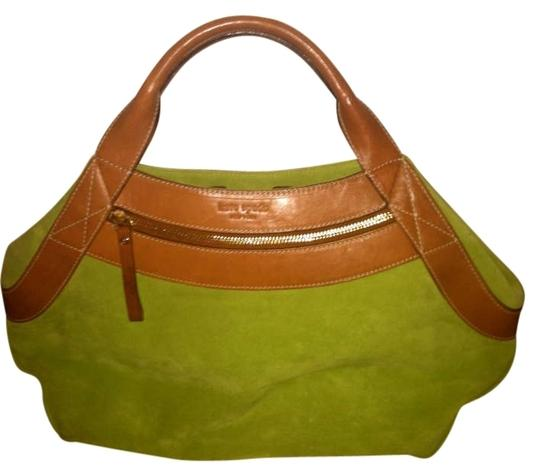 Preload https://item5.tradesy.com/images/kate-spade-reserved-for-tara-lime-green-with-light-brown-leather-suede-and-tote-187754-0-0.jpg?width=440&height=440