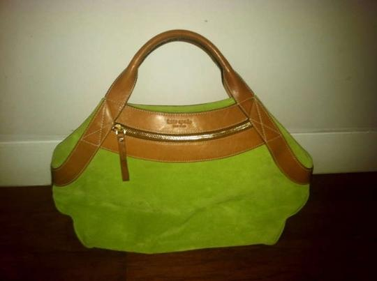 Kate Spade (Reserved For Tara) Tote in Lime Green with Light brown Leather