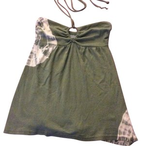 Michael Stars Strapless Dye Top Green