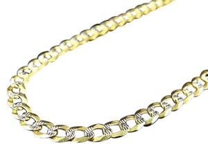 Jewelry Unlimited Real,10k,Yellow,Gold,Solid,Diamond,Cut,Cuban,Link,Chain,Necklace,18-30,3.5mm