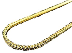 Jewelry Unlimited Real 10k Yellow Gold Hollow Diamond Cut Franco Style Chain Necklacs 30 inches 2mm