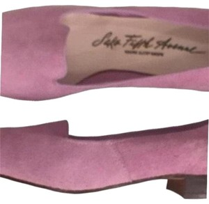 Saks Fifth Avenue New Nwot Suede Slip-ons Lavender (Purple) Flats