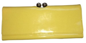 Ted Baker yellow wallet clutch