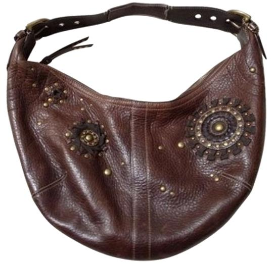 Preload https://item4.tradesy.com/images/coach-mia-studded-pebbled-satchel-c063-10063-brown-leather-hobo-bag-187758-0-0.jpg?width=440&height=440