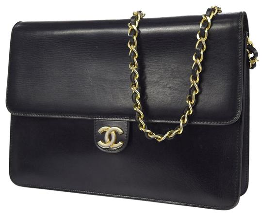 Chanel Vintage Double Flap Classic Flap Lambskin Shoulder Bag Image 6