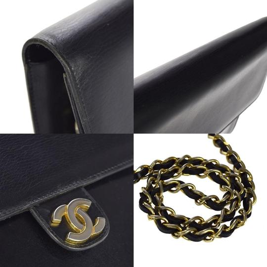 Chanel Vintage Double Flap Classic Flap Lambskin Shoulder Bag Image 7