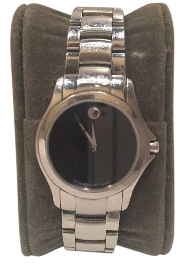 Preload https://img-static.tradesy.com/item/18776086/movado-black-and-silver-ladies-museum-84-e4-1849-watch-0-1-540-540.jpg