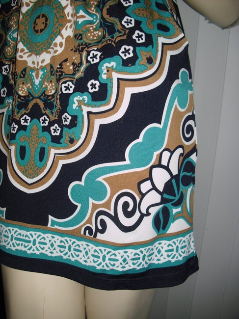bailey blue short dress turquoise, brown, gold on Tradesy Image 1